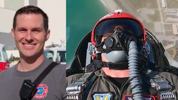Kennedy Space Center firefighter rides in F-16 with Thunderbird pilot