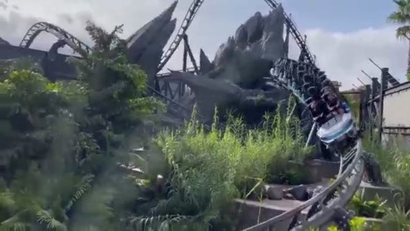 Hear the screams! Video shows Jurassic World VelociCoaster running with humans onboard
