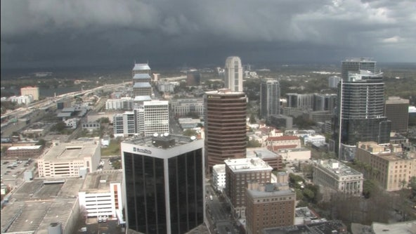 Heavy downpours will continue in Central Florida ahead of incoming front