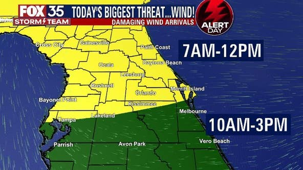FOX 35 Storm Alert Day: Slight risk for strong to severe storms in Central Florida