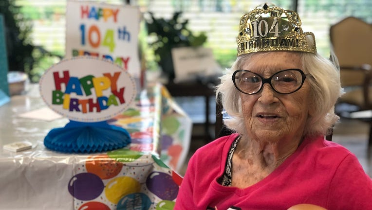 104 year old birthday florida nursing home