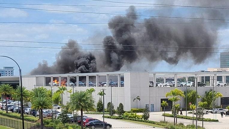 lexus dealership orlando fire