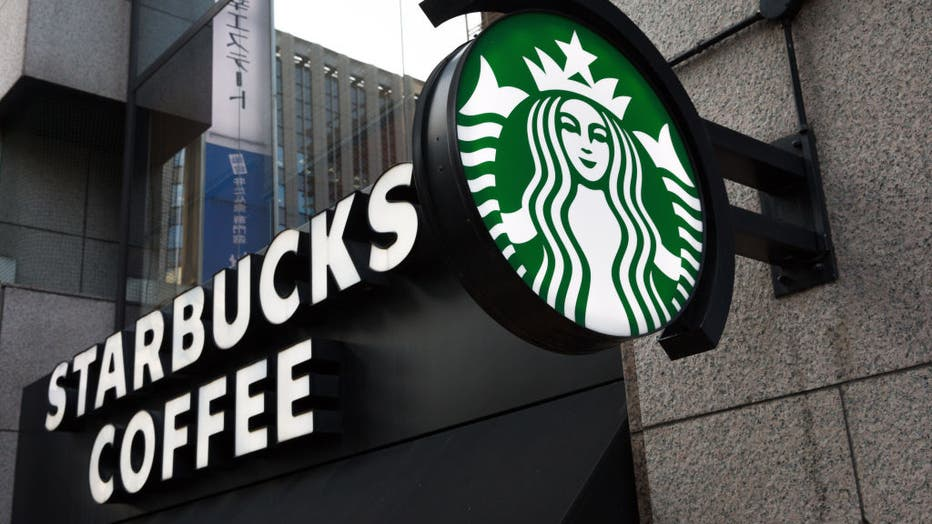 American multinational chain, Starbucks Coffee logo seen in