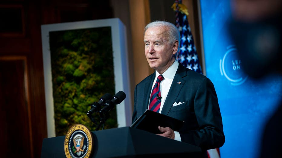 1d6a45d7-President Biden And Vice President Harris Participate In Virtual Leaders Summit On Climate