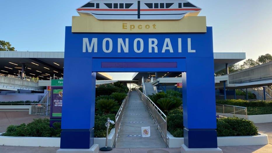 epcot monorail 50th anniversary