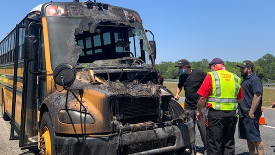 school bus fire florida