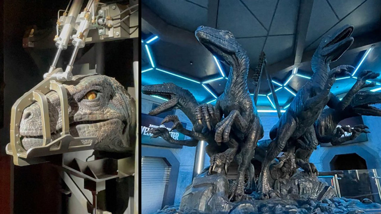Jurassic World VelociCoaster: Photos show inside the queue