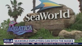 SeaWorld no longer requiring masks for fully vaccinated employees