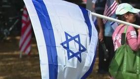 Demonstrators gather in Orlando to support Jewish community