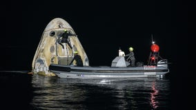 SpaceX Crew Dragon 'Resilience' completes 1st nighttime splashdown