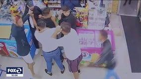Store surveillance video shows machete attack inside Fremont liquor store