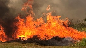 County Road 640 reopens south of Bartow as crews surround brush fire