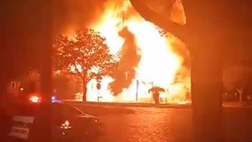 Fire tears through several homes in Sanford