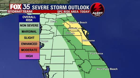 FOX 35 Storm Alert Day: Chance for strong to potentially severe storms increases