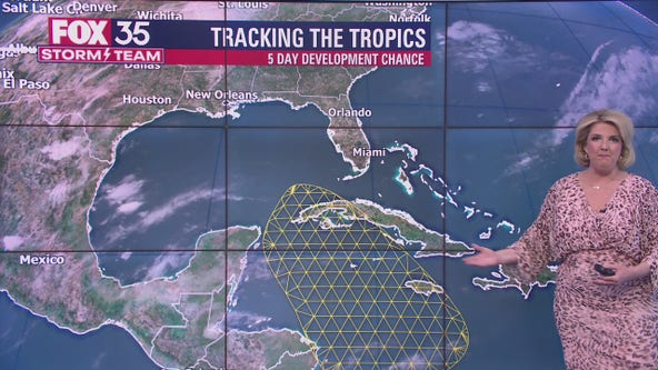 FOX 35 Storm Team tracking possible development of tropical system in Gulf