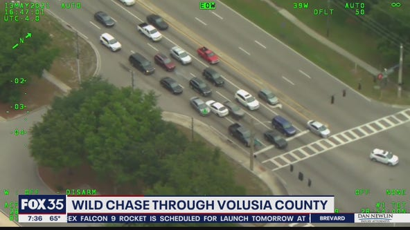 Video shows suspects sideswiping cars during wild chase through Volusia County, deputies say