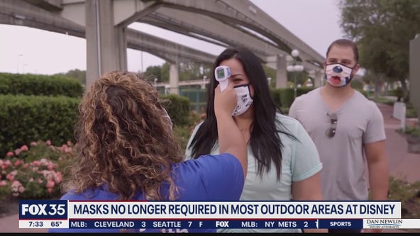 Masks no longer required in most outdoor areas at Disney, Universal Orlando