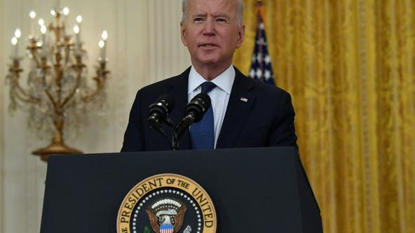 Biden touts economic recovery as Treasury Dept. starts paying out $350B in state and local aid