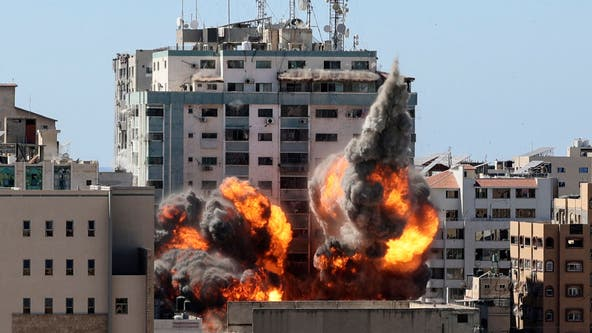 Israeli airstrike destroys Gaza high-rise building with media offices