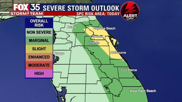 FOX 35 Storm Alert Day: Strong to potentially severe storms expected