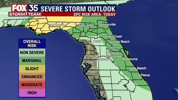 Storm risk rises for parts of Florida on Wednesday