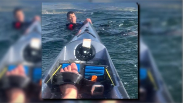 'Leave the kayak. We'll find it. I promise': Calm kayaker rescues man stranded on Canadian lake