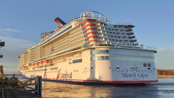 'Mardi Gras' cruise ship sets sail from Port Canaveral
