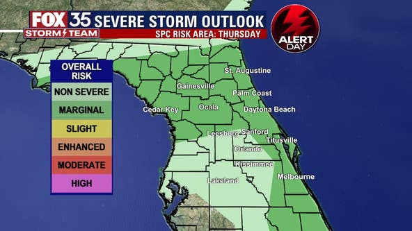 FOX 35 Storm Alert Day: Tracking risk of storms on Thursday