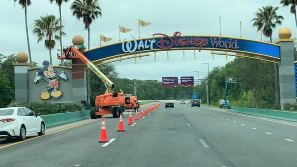 PHOTOS: Walt Disney World archway transitions into new look