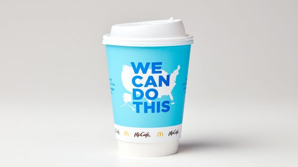 McDonald's new coffee cups to promote COVID-19 vaccine in partnership with White House