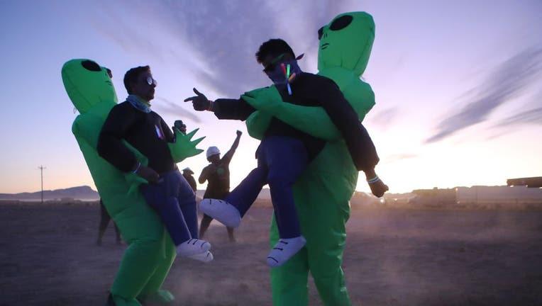 "Revellers Descend On Nevada Desert For ""Storm Area 51"" Gathering"