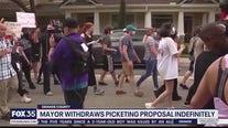 Orange County Mayor withdraws proposal on protests in neighborhoods