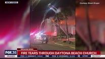 Fire tears through Daytona Beach church