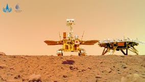 China Mars rover beams back spectacular images from red planet