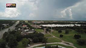SKYFOX Drone spots distant storms as seen from Orange City