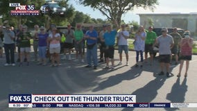 FOX 35 Storm Team Thunder Truck in Sumter County