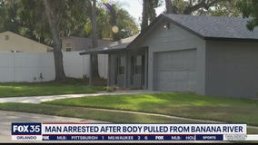 Man arrested after body pulled from Banana River