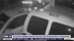Stolen ambulance crashes into Orange County home