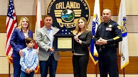 Family of fallen Orlando police officer presented with flag flown over U.S. Capitol Building