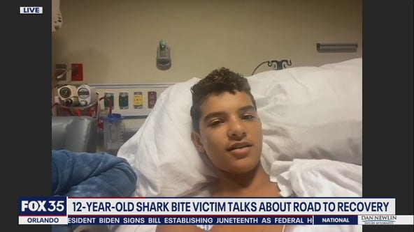 12-year-old bitten by shark talks about road the recovery