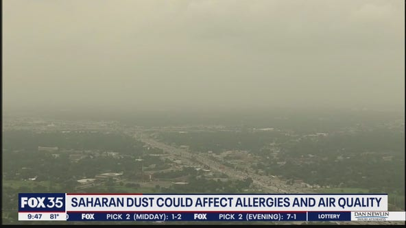 Saharan dust could affect allergies and air quality