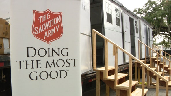 The Salvation Army raising money for portable shelters