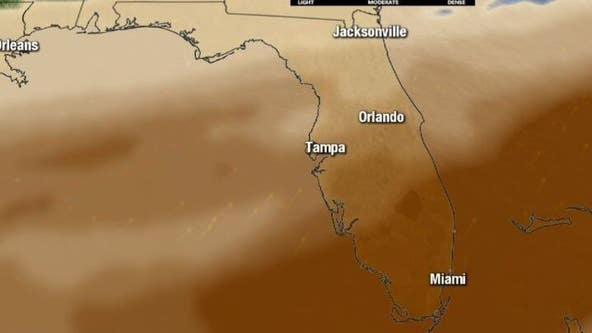What the sky will look like as a massive Saharan dust cloud moves over Florida