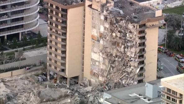 At least 1 dead in high-rise condo partial collapse near Miami Beach, mayor says