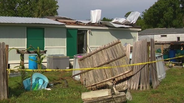 Central Florida homes damaged after Sunday storms bring heavy rain, strong winds