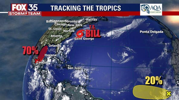 NHC: Tropical Storm Bill forms off North Carolina coast