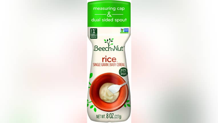 Beech-nut baby rice cereal