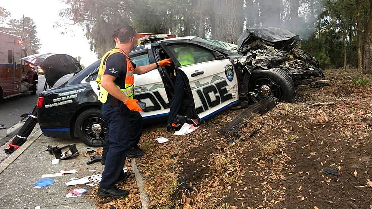 Ocala police officer has license suspended, pays fine after crash in patrol car