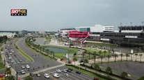 SKYFOX Drone in front of Daytona International Speedway