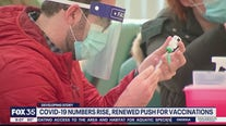 COVID-19 numbers rise, renewed push for vaccinations